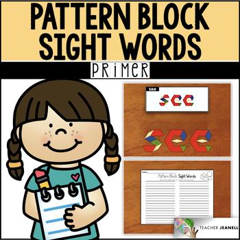 Dolch Primer Sight Words Pattern Blocks