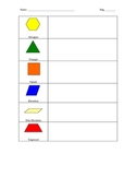 Pattern Block Sort, Tally, and Graph Activity