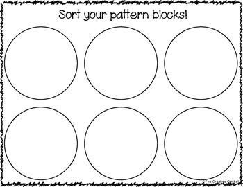 Pattern Block Sorting Mat and Graph