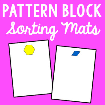 Pattern Block Sorting Mats