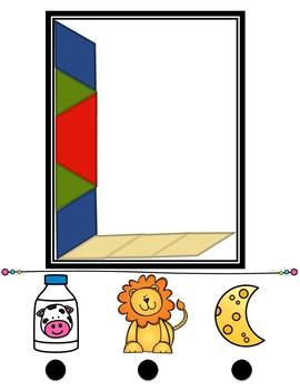 Pattern Block Spanish Letters