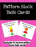 Pattern Block Task Cards, STEM Task Cards, STEM Challenge Cards, Pattern Blocks