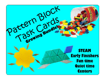 Pattern Block Task Cards: GROWING Bundle!