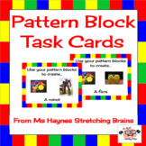 Pattern Block Task Cards for Makerspace, Morning Work & More