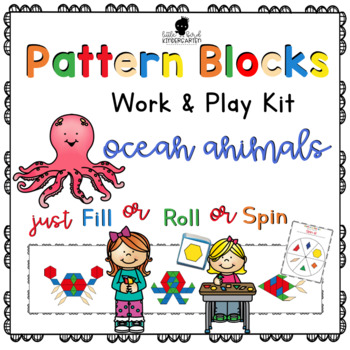 Pattern Block Work & Play Cards OCEAN