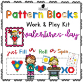 Pattern Block Work & Play Cards VALENTINES DAY