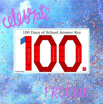 Pattern Blocks 100 Days of School Puzzles
