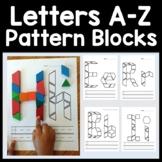 Alphabet Activities for Kindergarten with Pattern Blocks {Letter Activities}