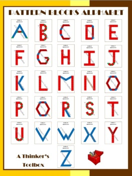 Pattern Blocks Alphabet UPPERCASE Puzzles