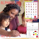 Pattern Blocks Alphabet lowercase Puzzles