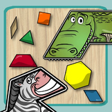 Pattern Blocks - Animal Alphabet (Shapes, Letters, Countin