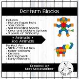 Pattern Blocks - Animals - Zoo Animals