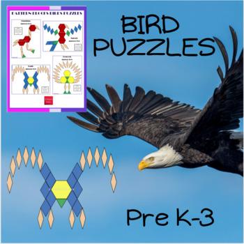 Pattern Blocks Birds Puzzles