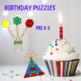Pattern Blocks Birthday Puzzles