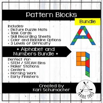 Pattern Blocks – Bundles – Alphabet and Numbers