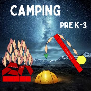 Pattern Blocks Camping Puzzles