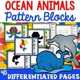 Pattern Blocks Cards Ocean Animals