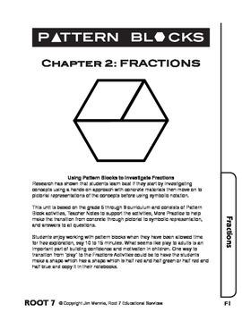Pattern Blocks: Chapter 2: Investigating Fractions