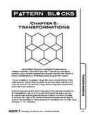 Pattern Blocks: Chapter 5: Transformations-Reflections, Rotations, Translations
