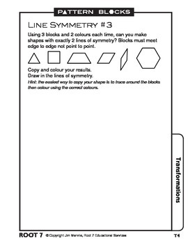Pattern Blocks: Chapter 5: Transformations-Reflections, Rotations, Translations