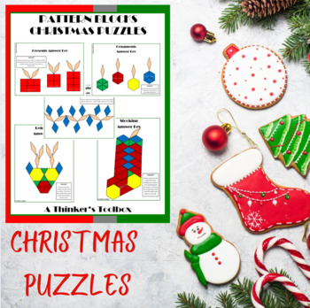 Pattern Blocks Christmas Puzzles