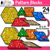 Pattern Blocks Clip Art | Counting and Sorting Manipulatives for Math Centers