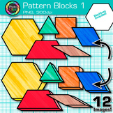 Pattern Blocks Clip Art {Counting and Sorting Manipulatives for Math Centers} 1