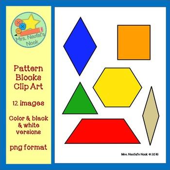 Pattern Blocks Clip Art - Freebie