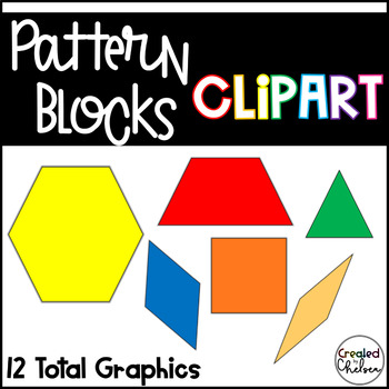 Pattern Blocks {Clipart for Commercial Use}