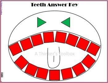 Pattern Blocks Dental Health Puzzles