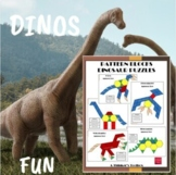 Pattern Blocks Dinosaur Puzzles