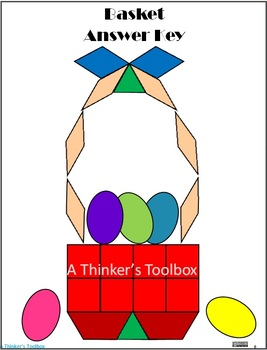 Pattern Blocks Easter Puzzles