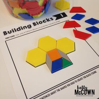 Pattern Blocks Elementary Math Task Cards