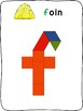 Pattern Blocks - Fall / L'automne - French - letter formation activity mats