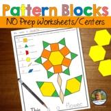 Pattern Blocks Fall Worksheets No Prep Geometry