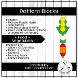 Pattern Blocks - Foods - Vegetables