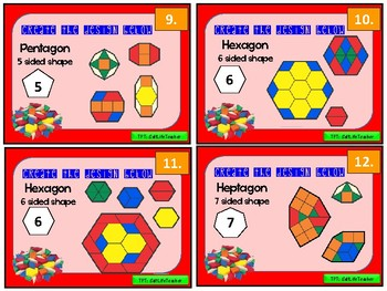 Pattern Blocks, G.1.1 and STEM task cards