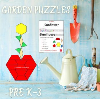 Pattern Blocks Garden Puzzles