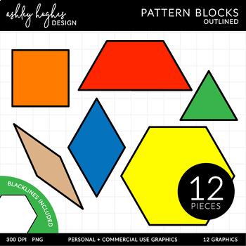 Pattern Blocks Clipart {A Hughes Design}