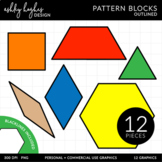 Pattern Blocks Clipart - Outlined - [Ashley Hughes Design]