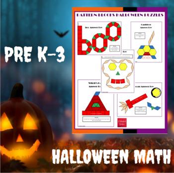 Pattern Blocks Halloween Puzzles