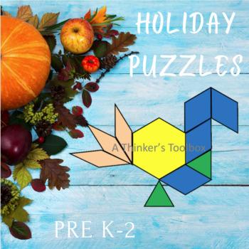 Pattern Blocks Holidays Puzzles