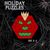 Pattern Blocks Holidays Puzzles