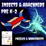 Insects and Arachnid Math & Science Puzzles