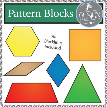 Pattern Blocks (JB Design Clip Art for Personal or Commercial Use)