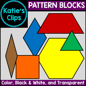 Pattern Blocks {Katie's Clips Clipart}