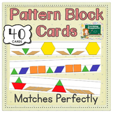 Pattern Blocks Math Center | Fits Manipulatives Exactly |  AB ABC ABB +More!