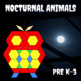 Pattern Blocks Nocturnal Animals Puzzles