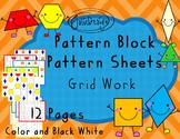 Pattern Blocks Pattern Sheets - Grid Work