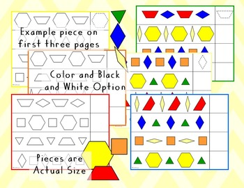 Pattern Blocks Pattern Sheets - Twos